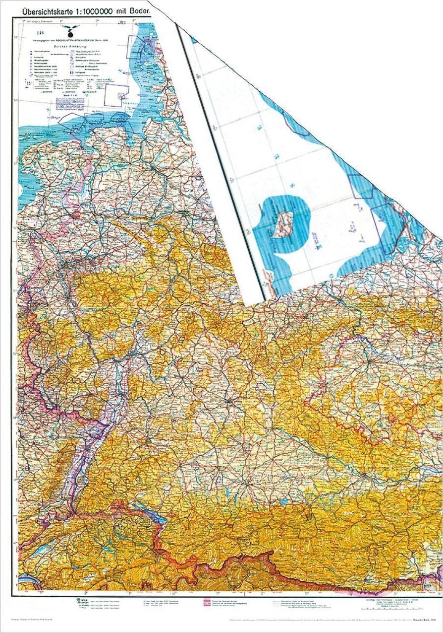 Historische Karte Deutschland 1938 Ubersichtskarte Mit Der