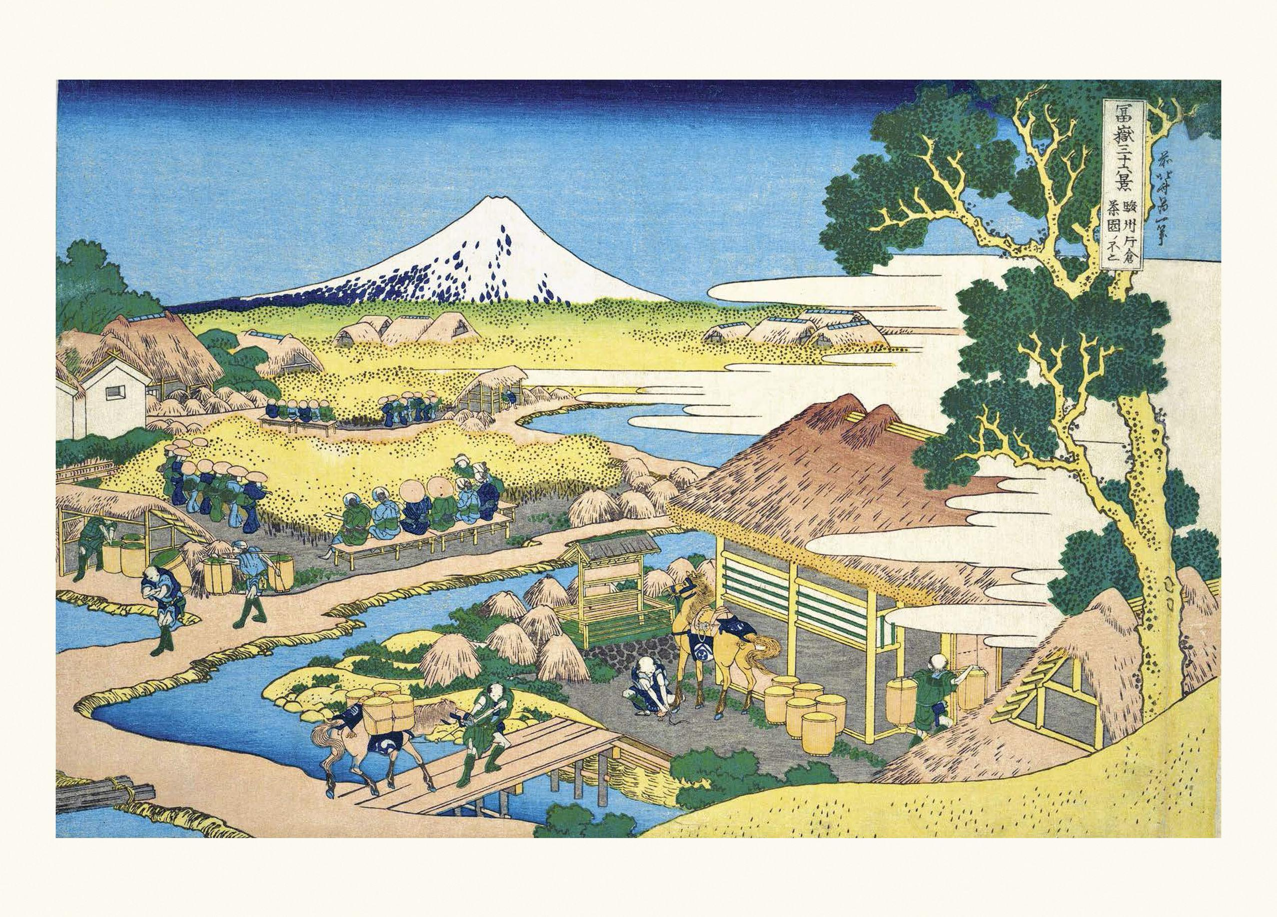 Rot Fuji Japanische Holzschnitt von Hokusai /& Gratis Iris Poster 36 Ansichten