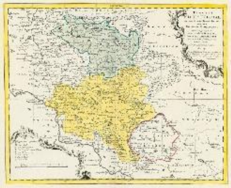 Homann E Historische Karte Das Eichsfeld 1759 Plano Buch