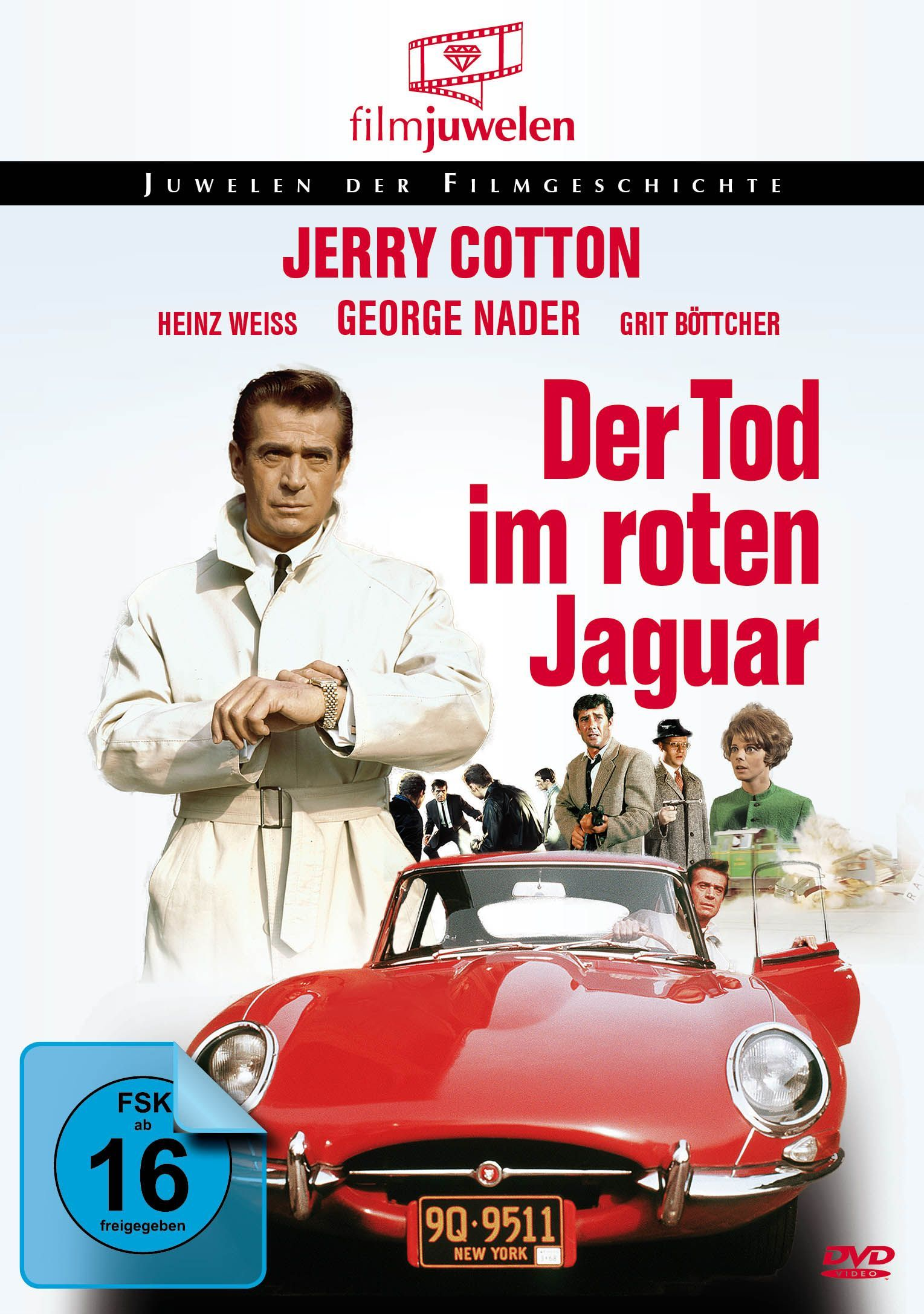 Image of Jerry Cotton: Der Tod im roten Jaguar