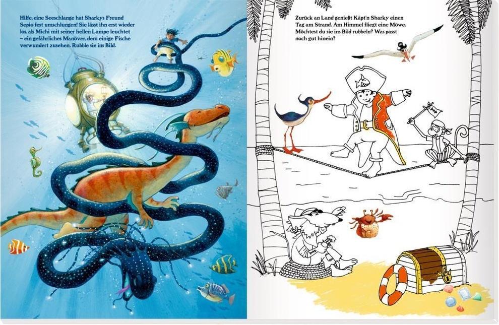 Käpt'n Sharky - Rubbelsticker & Malbuch Buch - Weltbild Ch