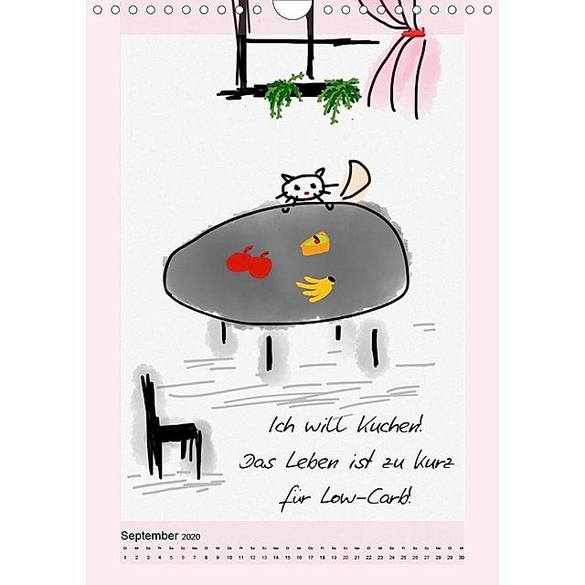 Katzen. Lustige Sprüche für Katzenmenschen Wandkalender ...
