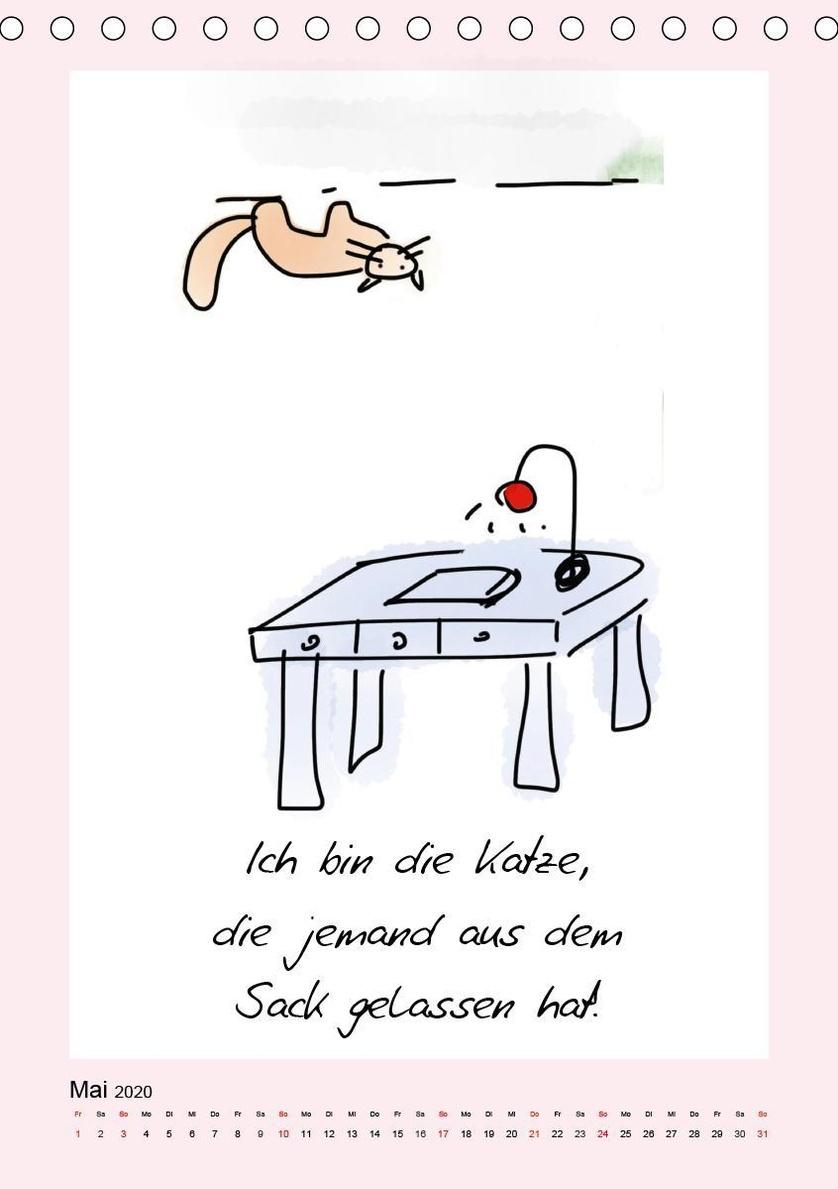 Katzen. Lustige Sprüche für Katzenmenschen Tischkalender ...