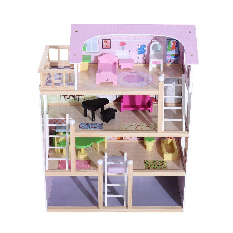 Kinder Puppenhaus mit Möbeln
