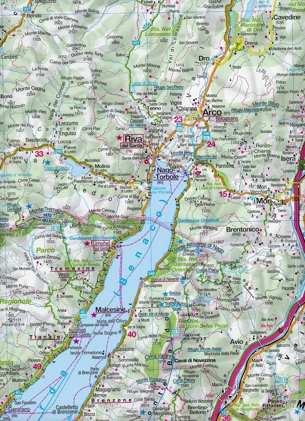 gardasee bilder karte Kompass Karte Gardasee, Iseosee Lago di Garda, Lago d' Iseo Buch