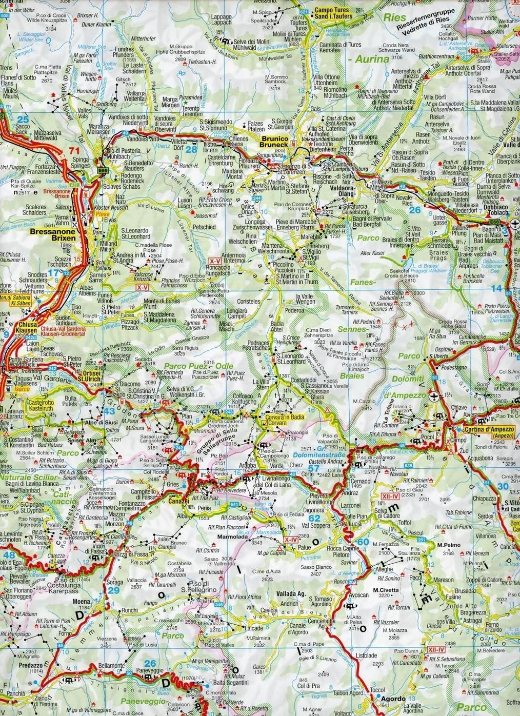 Kompass Karte Sudtirol Dolomiten Gardasee Venedig South Tyrol