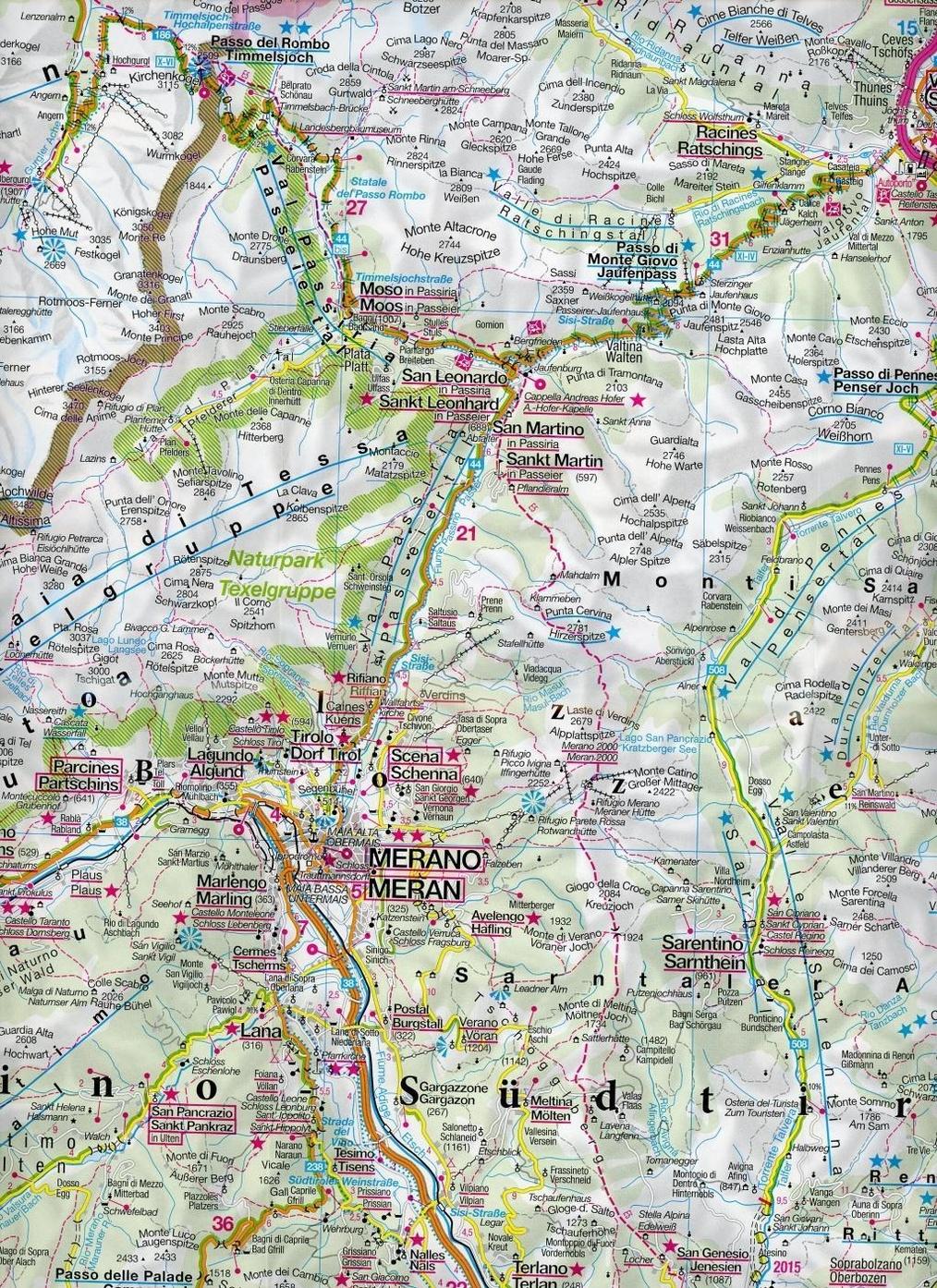 Kompass Karte Sudtirol Dolomiten Mit Panorama Alto Adige