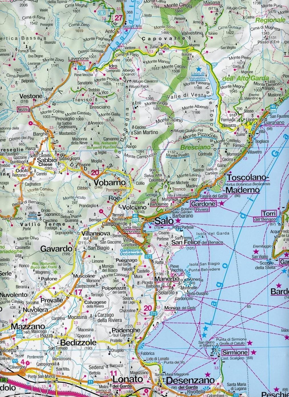 Kompass Panorama Karte Gardasee Kompass Panorama Karte Lake Garda
