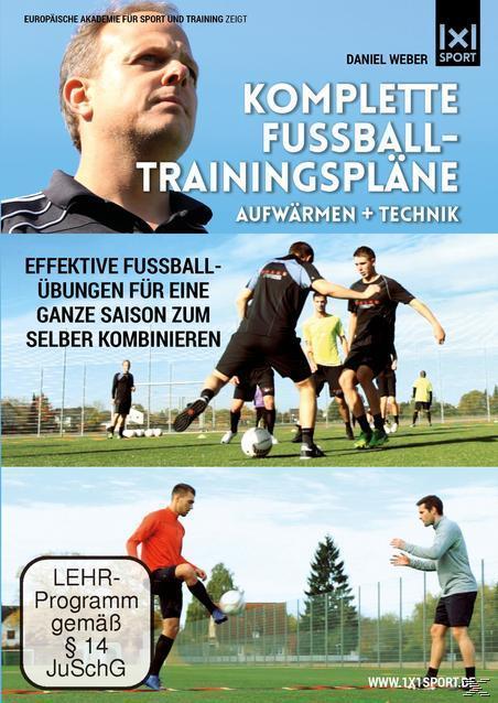 Image of Komplette Fußball - Trainingspläne - Aufwärmen + Technik