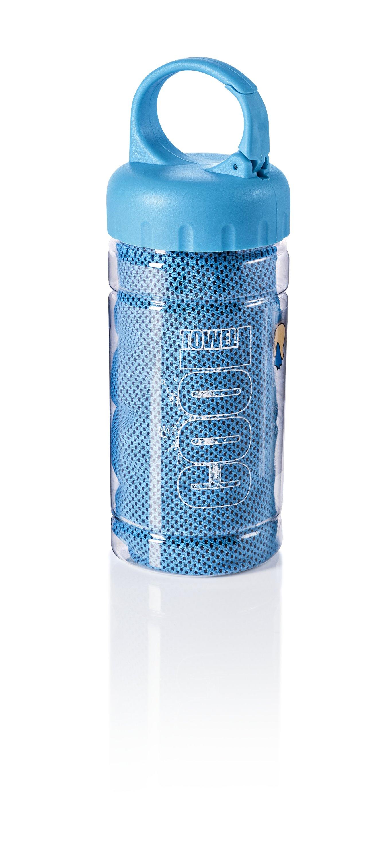 4 x Kühlendes Handtuch Cooling Towel Kühlhandtuch Kühltücher Sport Hals blau