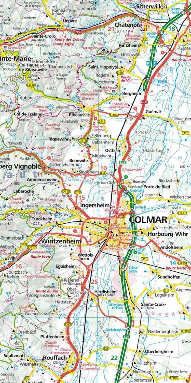 Kummerly Frey Karte Elsass Vogesen Alsace Vosges Regionalkarte