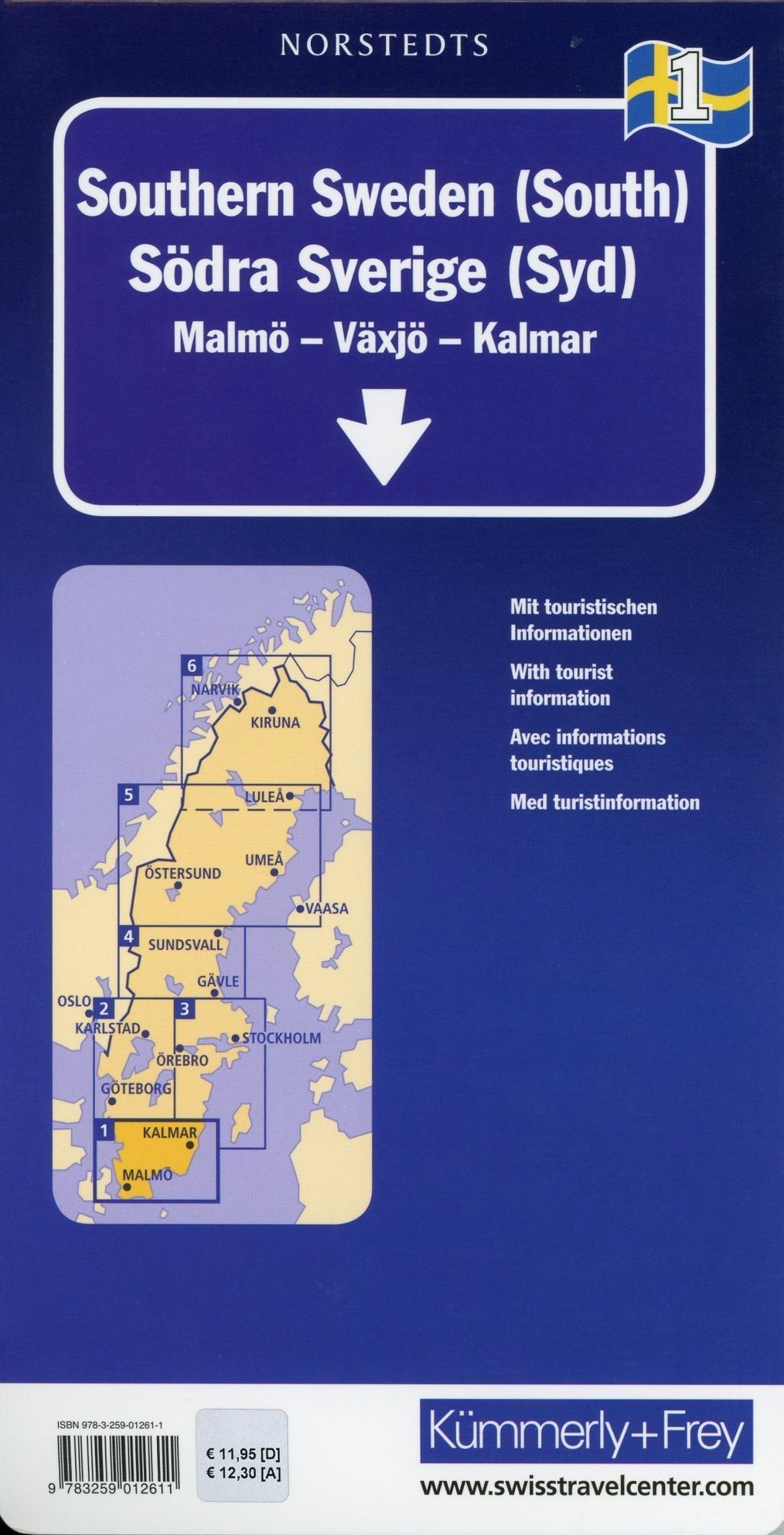 Kummerly Frey Karte Sud Schweden Sud Regionalkarte Suede Du Sud