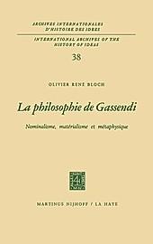La philosophie de Gassendi. Olivier René Bloch, - Buch - Olivier René Bloch,