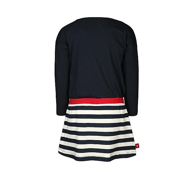 Langarm Kleid Herz Detail Gestreift In Dunkelblau Rot Weltbild De