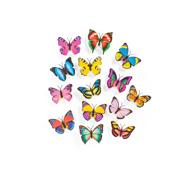 Klassisches Klangspiel Schmetterling Windspiel blau 59 cm