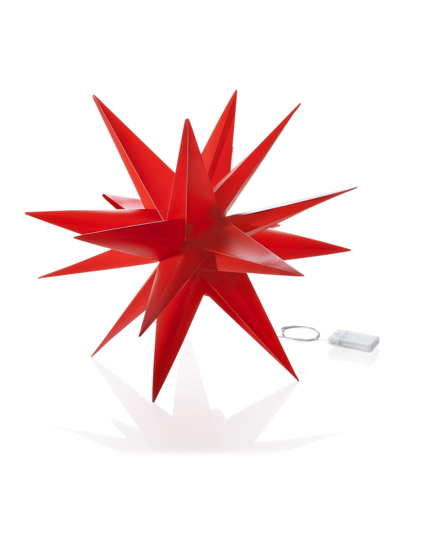 100cm LED 3D-Stern weiß Weihnachten außen Leuchtstern 18 Zacken beleuchtet Kabel