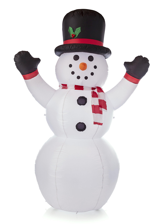 Aufblasbarer Schneemann beleuchtet Weihnachtsdeko Winterdeko Deko Weihnachten