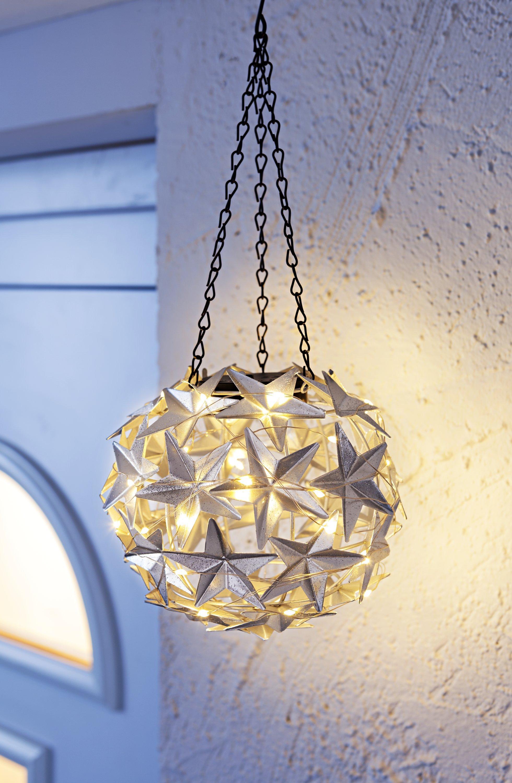 LED Dekohänger warmweiß mit Schalter /& Timer Schneeflocken Hängedeko