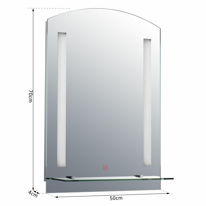 LED Wandspiegel Farbe: silber, Größe: 70 x 50 x 4 cm LxBxH
