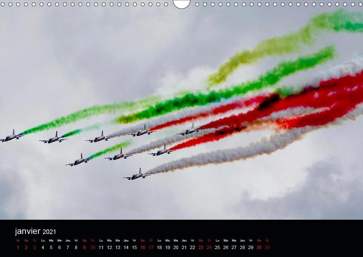 Les Frecce Tricolori Calendrier mural 2021 DIN A3 horizontal online kaufen  - Orbisana