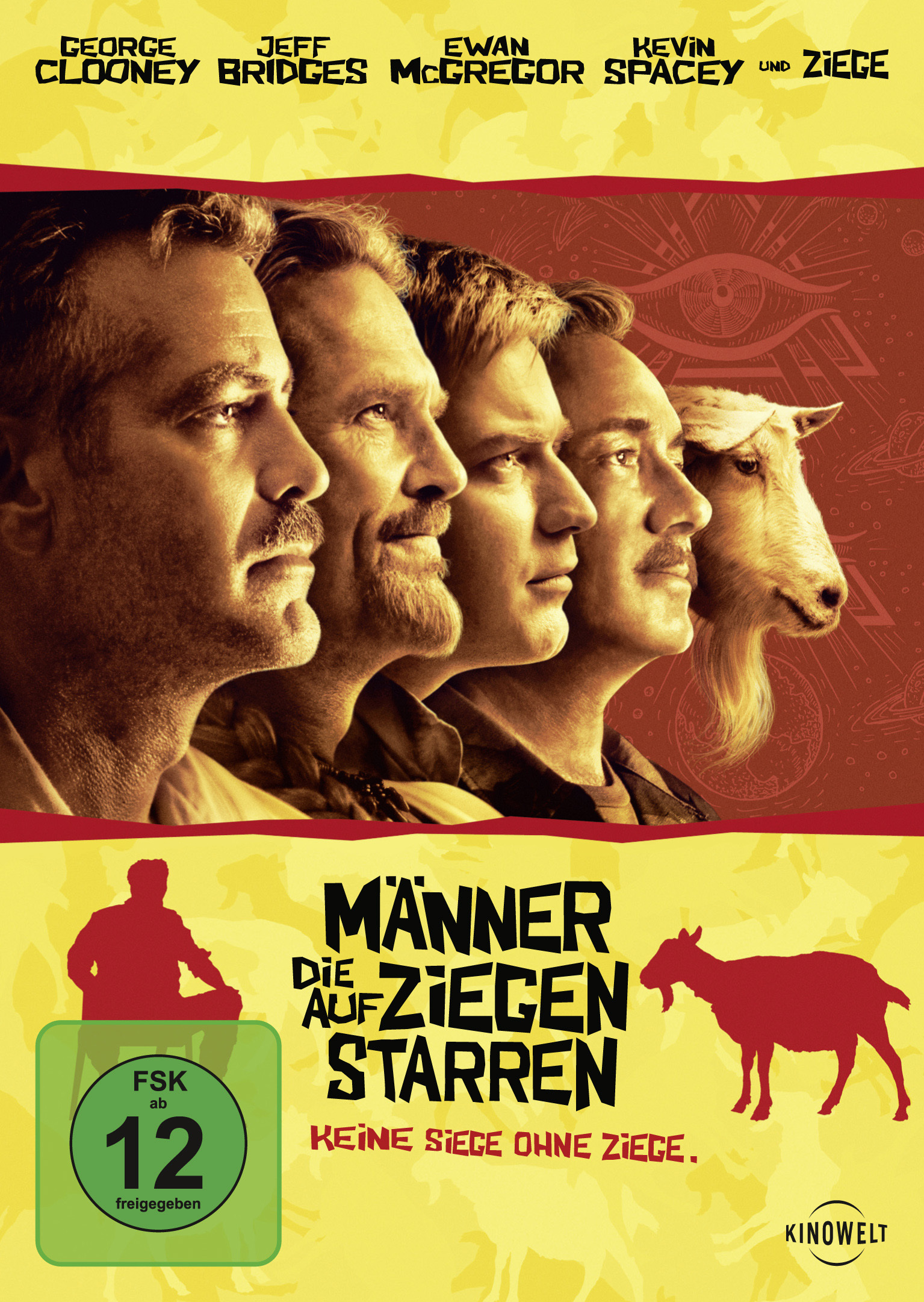 Image of Männer, die auf Ziegen starren