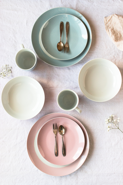 Maser Kitchen Time Ii Geschirr Set Porzellan 16 Tlg Farbe Grun Weltbild De