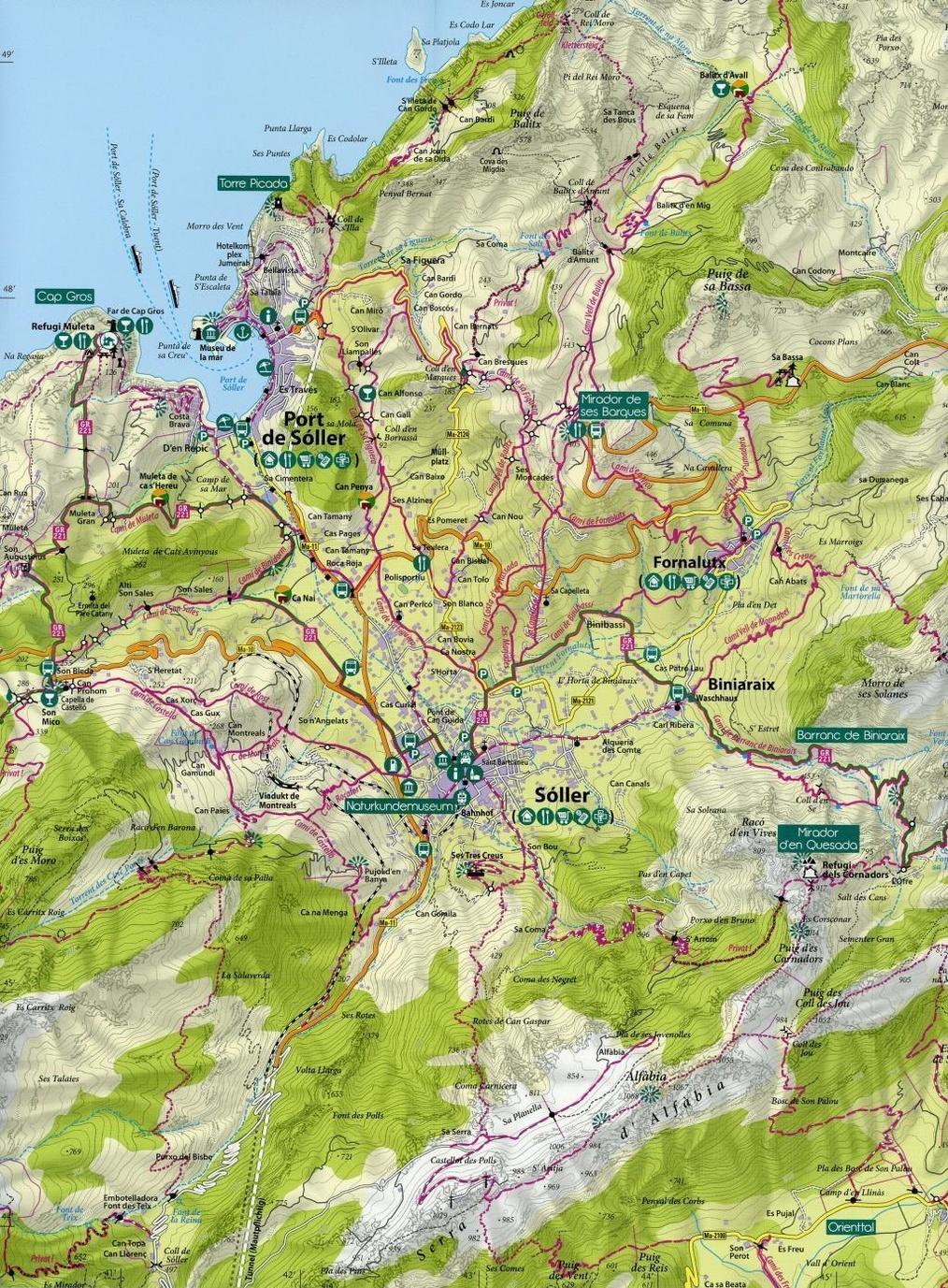 Mallorca Wanderkarte 1 35 000 Kartenset Mit Nord Sud Blatt