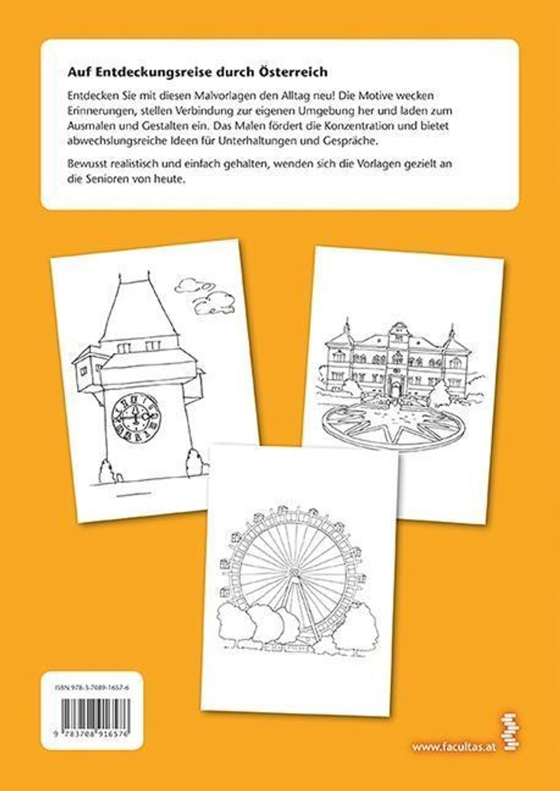 Malvorlagen, Auf Entdeckungsreise. Sehenswürdigkeiten und berühmte Orte in  Österreich