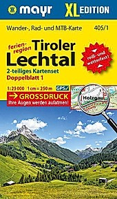 Mayr Karte Ferienregion Tiroler Lechtal, 2 Blätter.  - Buch