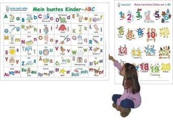 40/x/60/cm Lernposter f/ür Zahlen 1-100 in englischer Sprache