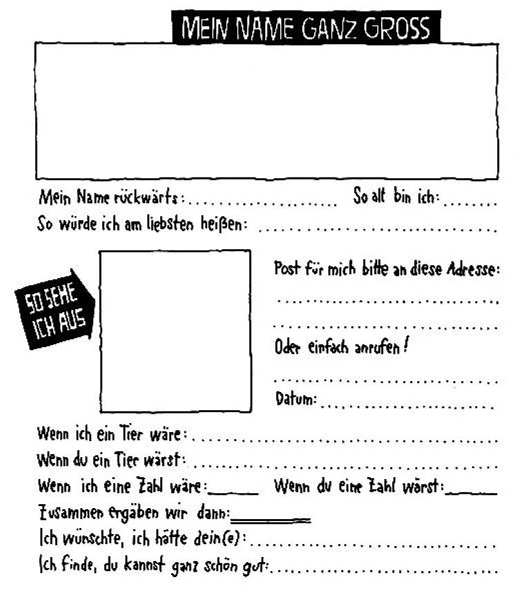 Freundschaftsbuch fragen WIR: Poesiealbum