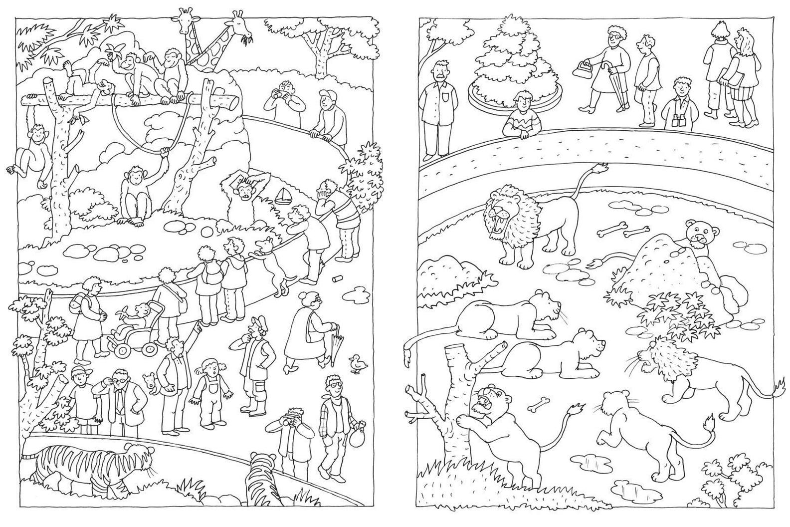 Mein Lieblings-Malbuch - Im Zoo