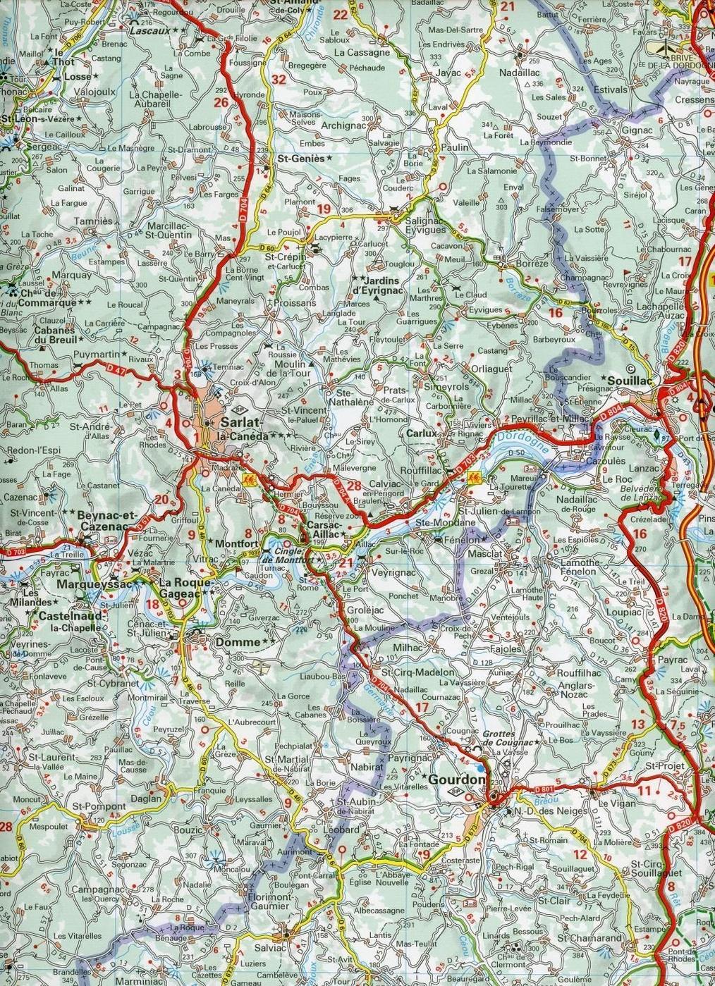 Michelin Karte Perigord Correze Dordogne Buch Weltbild Ch
