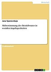 Mitbestimmung des Betriebsrates in sozialen Angelegenheiten - eBook - Jana Spanovskaja,