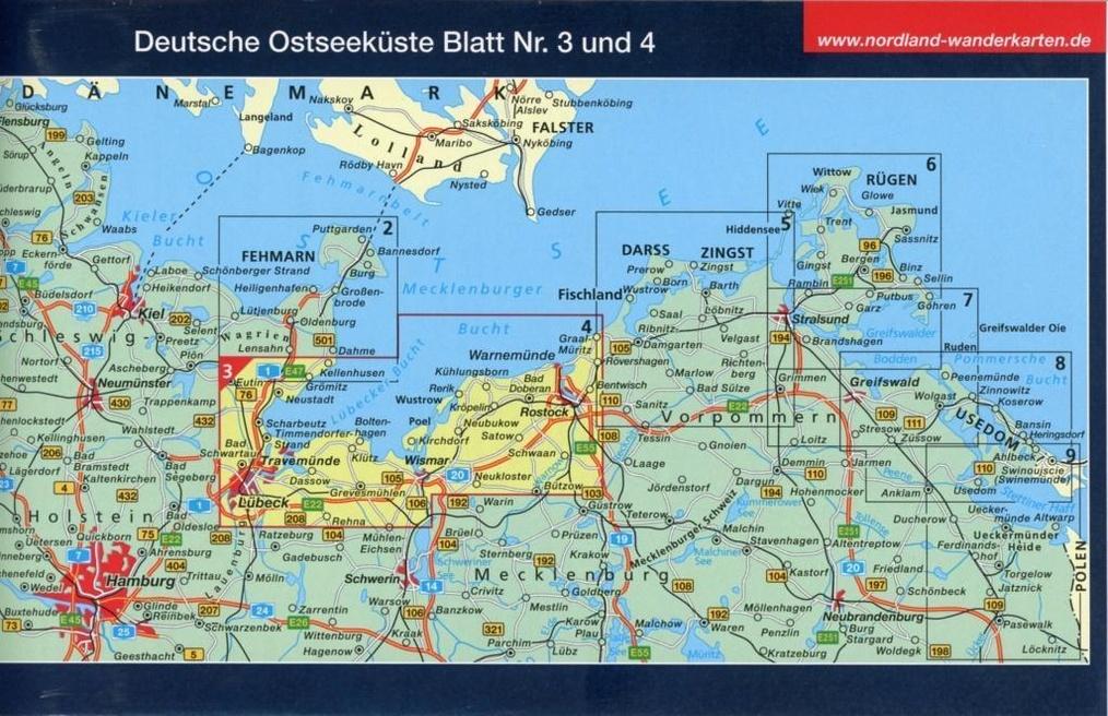 Nordland Karte Mecklenburgische Ostseekuste Buch Weltbild Ch