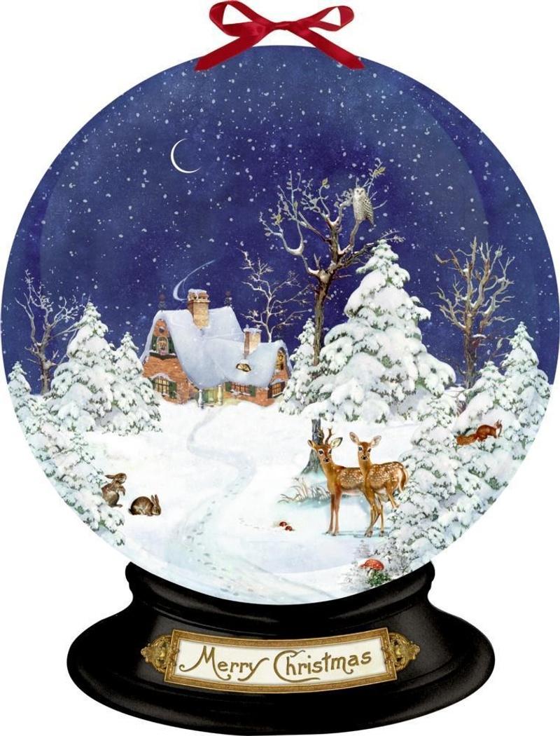 Nostalgische Schneekugel Wand Adventskalender Weltbild De