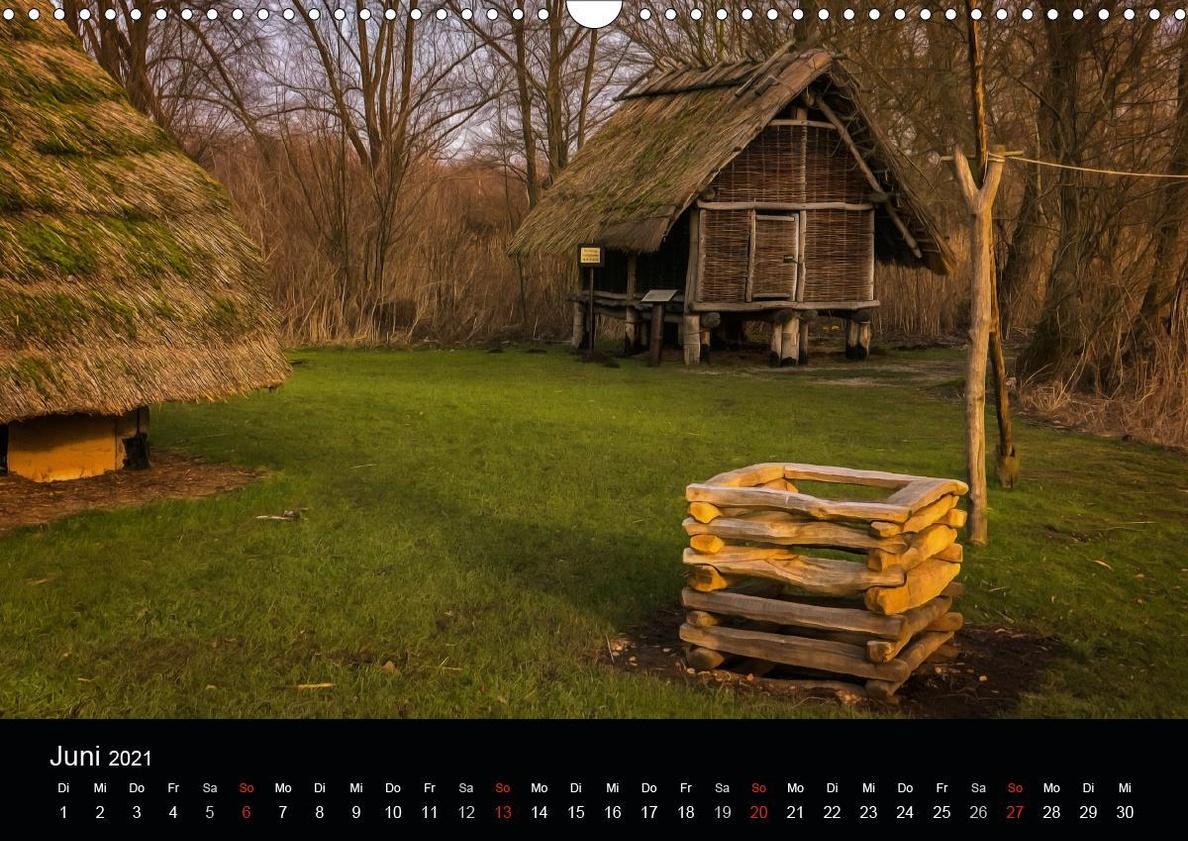 Opfermoor Vogtei am Mittelpunkt Deutschlands Wandkalender 2021 DIN A3 quer  - Kalender bestellen
