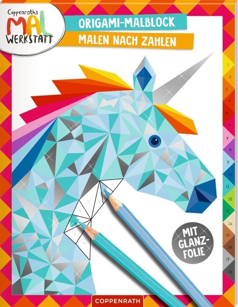 origamimalblock  malen nach zahlen buch jetzt online bei