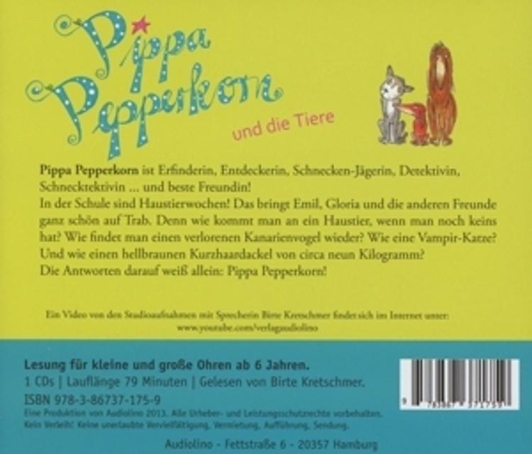Pippa Pepperkorn 2 Pippa Pepperkorn Und Die Tiere Horbuch