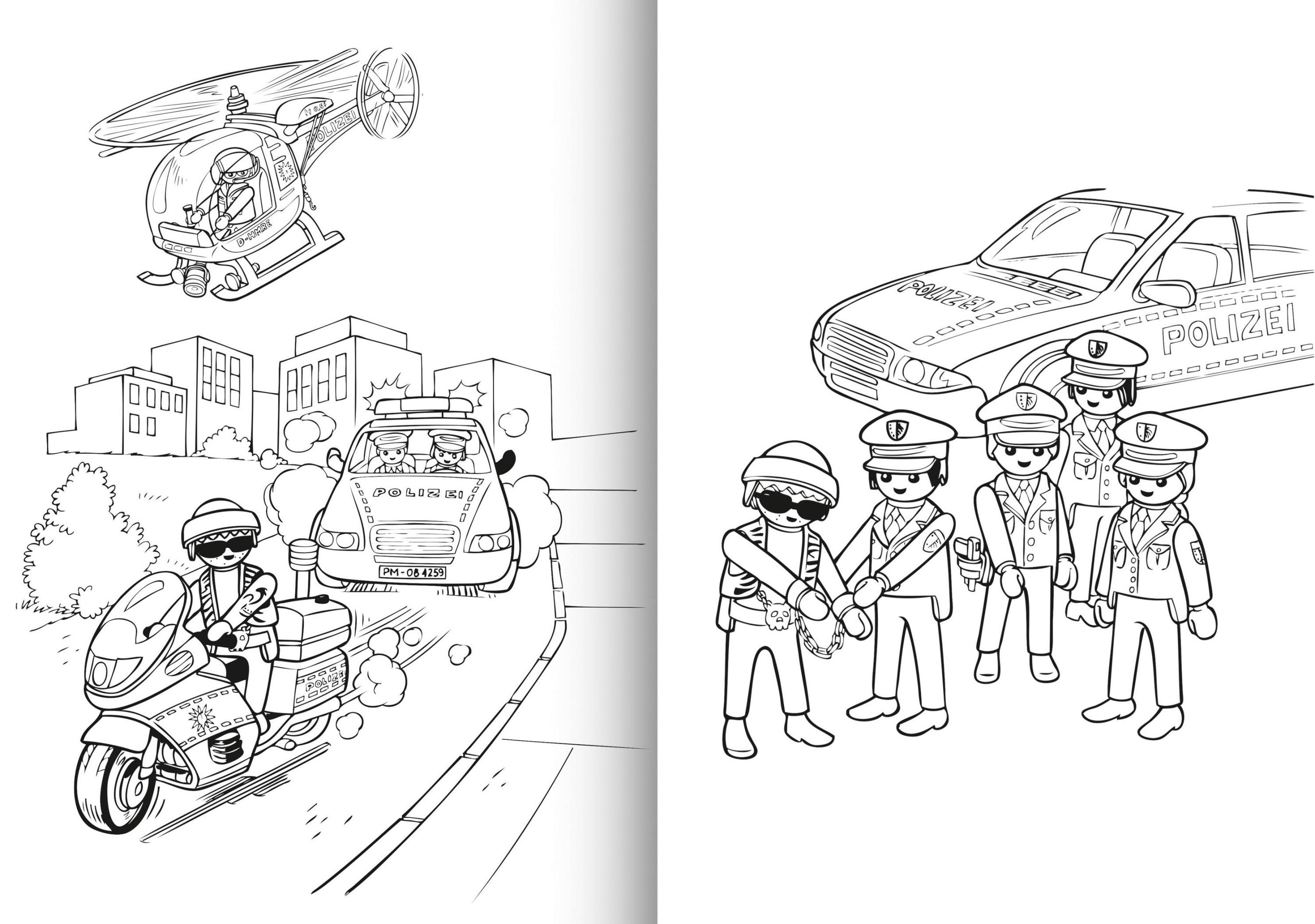 Playmobil  Mein Sticker-Malbuch Polizei Bestellen | Weltbild De