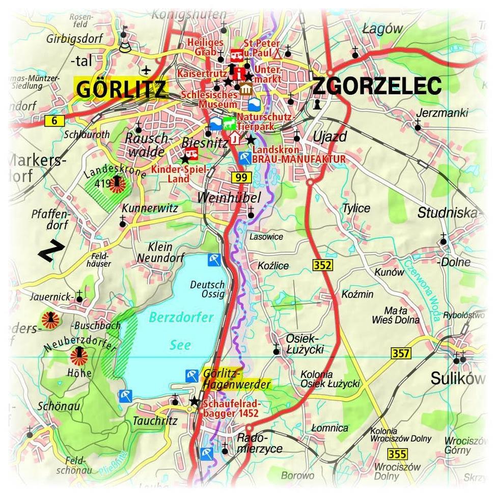 karte dreiländereck deutschland polen tschechien PublicPress Erlebnisführer Dreiländereck Deutschland Polen
