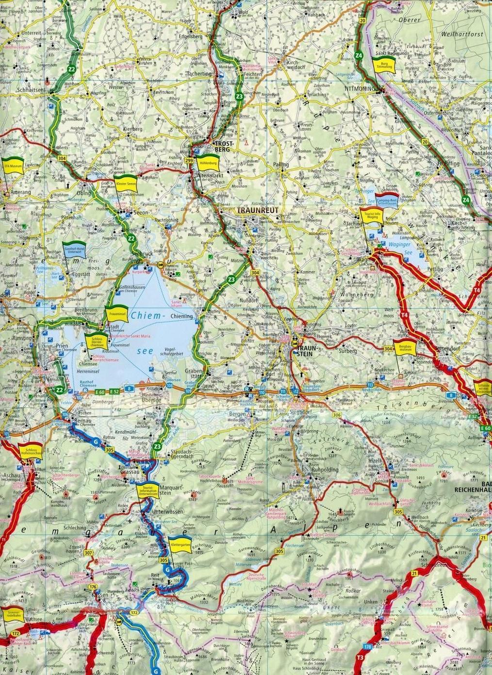 PublicPress Motorradkarte Südostbayern   Österreichische Alpen ...