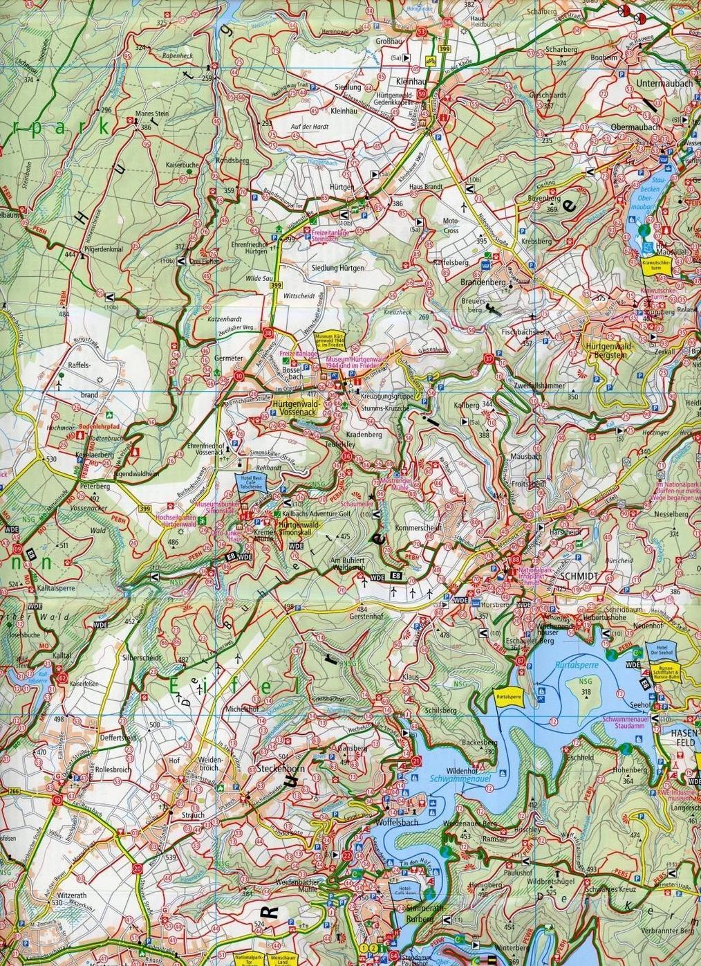 Publicpress Rad Und Wanderkarte Nationalpark Eifel Nideggen