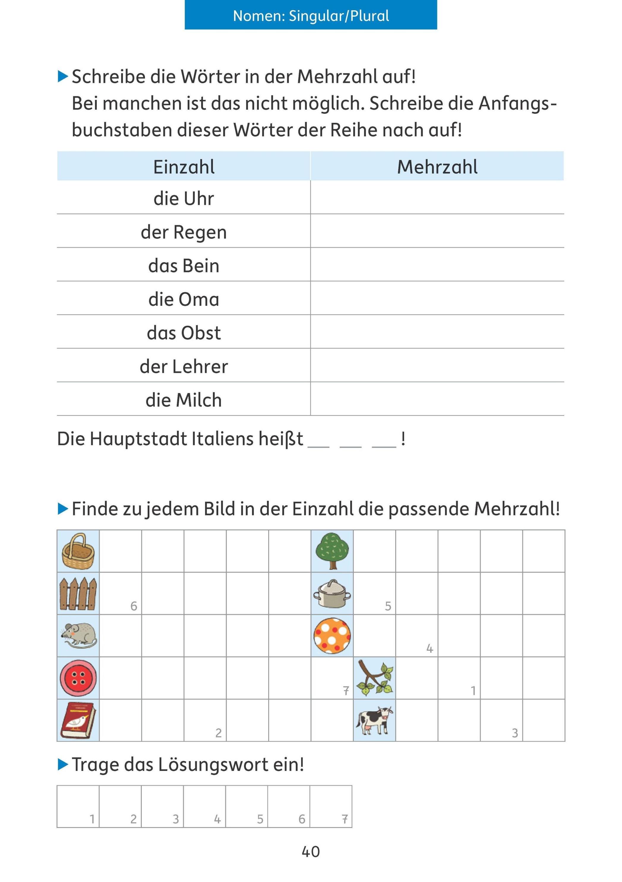 Quer durch die 3. Klasse, Mathe und Deutsch - Übungsblock