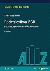 Rechtslexikon BGB. Sybille Neumann, - Buch - Sybille Neumann,