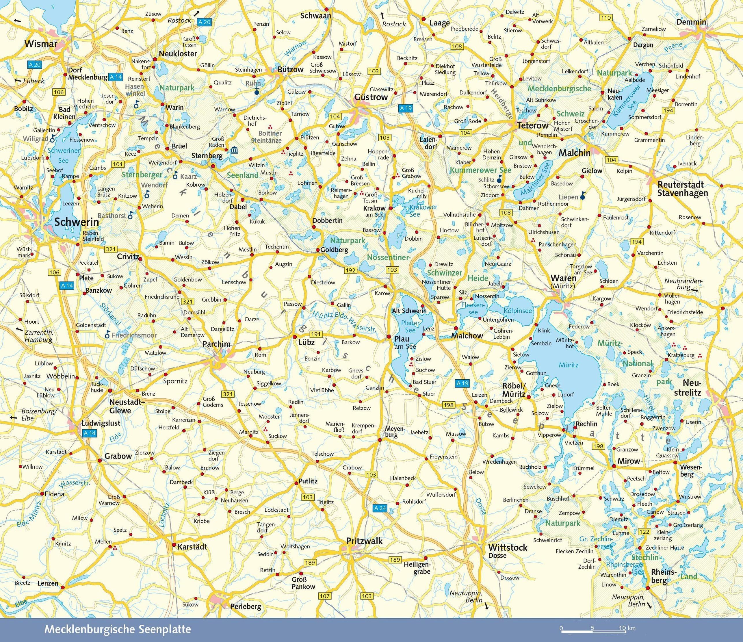 Karte seenplatte paddeln mecklenburger Die 10