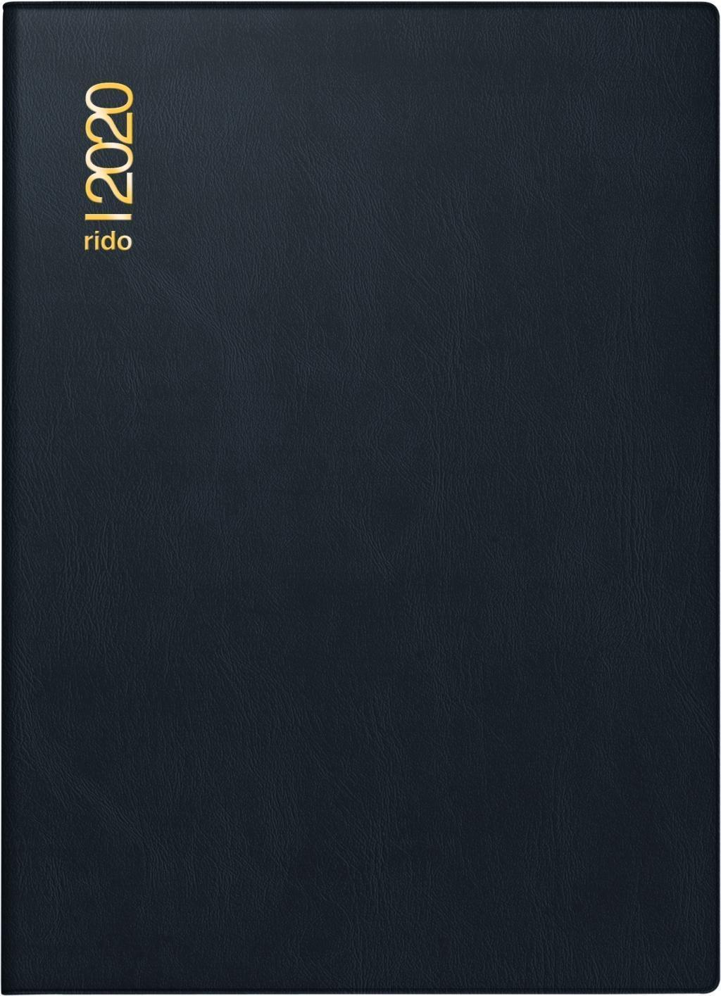 BRUNNEN 1079561021 Buchkalender Modell 795 Balacron-Einband blau 14,5 x 20,6 cm 1 Seite = 1 Tag Kalendarium 2021