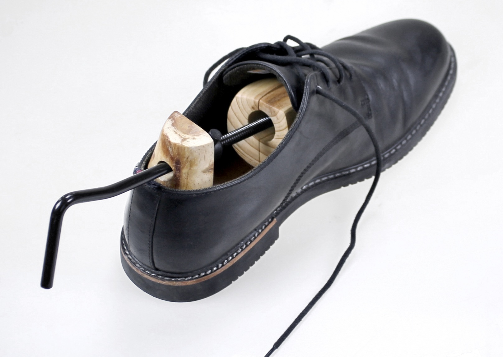 36//37 infactory 2 Paar Premium-Schuhspanner aus Zedernholz 3-fach gefedert Gr