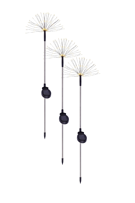 "Solar-Gartenstecker /""Twinkle/"" 3er-Set LED Beleuchtung Deko Gartendekoration"