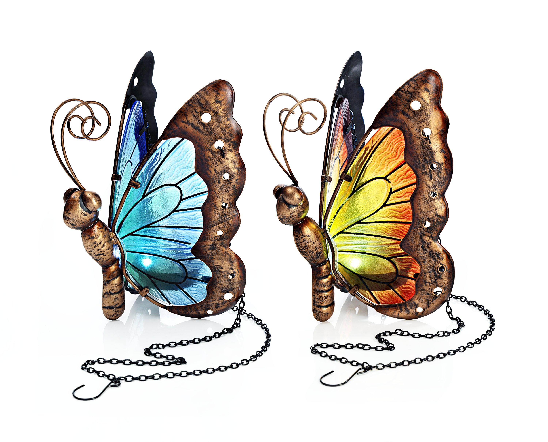 Metall-Schmetterling 2 Stck.tolle Wanddeko als 2er SET zum Sparpreis